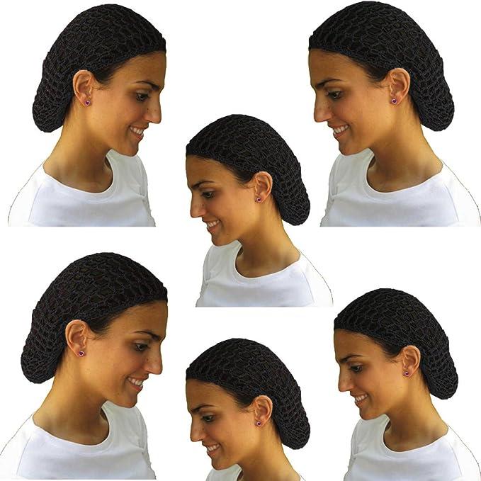 3fd8d9288fae9 Amazon.com: 12 Beautiful Black Short Hair Net Snoods - Value Pack By ...