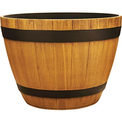 Southern Patio HDR-012245 Wine Barrel Planters, 15-Inches, Natural Oak (Assorted 12) : Garden & Outdoor