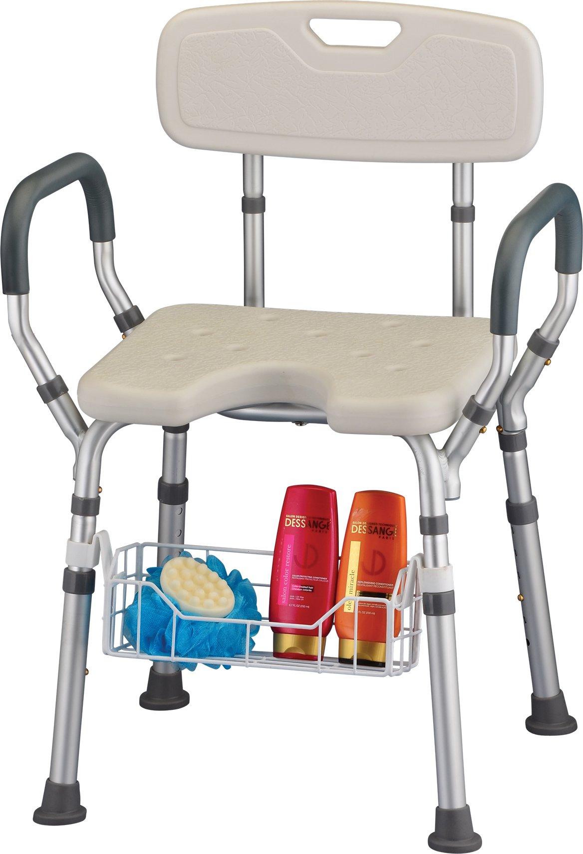 NOVA Medical Products Bath Seat Basket, White, 1 Pound