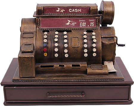 KOHLER24 Decoración Vintage de Carga Cash – Caja registradora con Ranura para Monedas como Hucha – Mano: Amazon.es: Hogar
