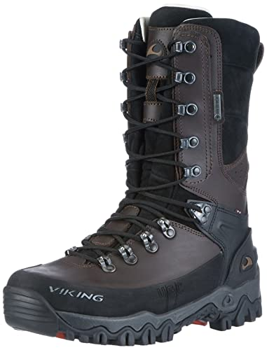 Viking Unisex-Erwachsene Hunter GTX Jagdstiefel, Braun (Dark Brown), 37 EU