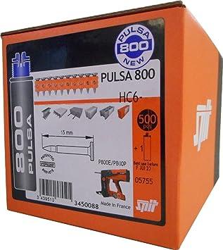 Spit - Clavo para hormigon hierro estandar hc6-27+gas p800: Amazon.es: Bricolaje y herramientas