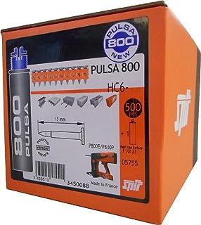 Clavos de gas para Pulsa 700//800//1000 caja de 500 u/ñas Hitachi Senco Fusionfix plateado