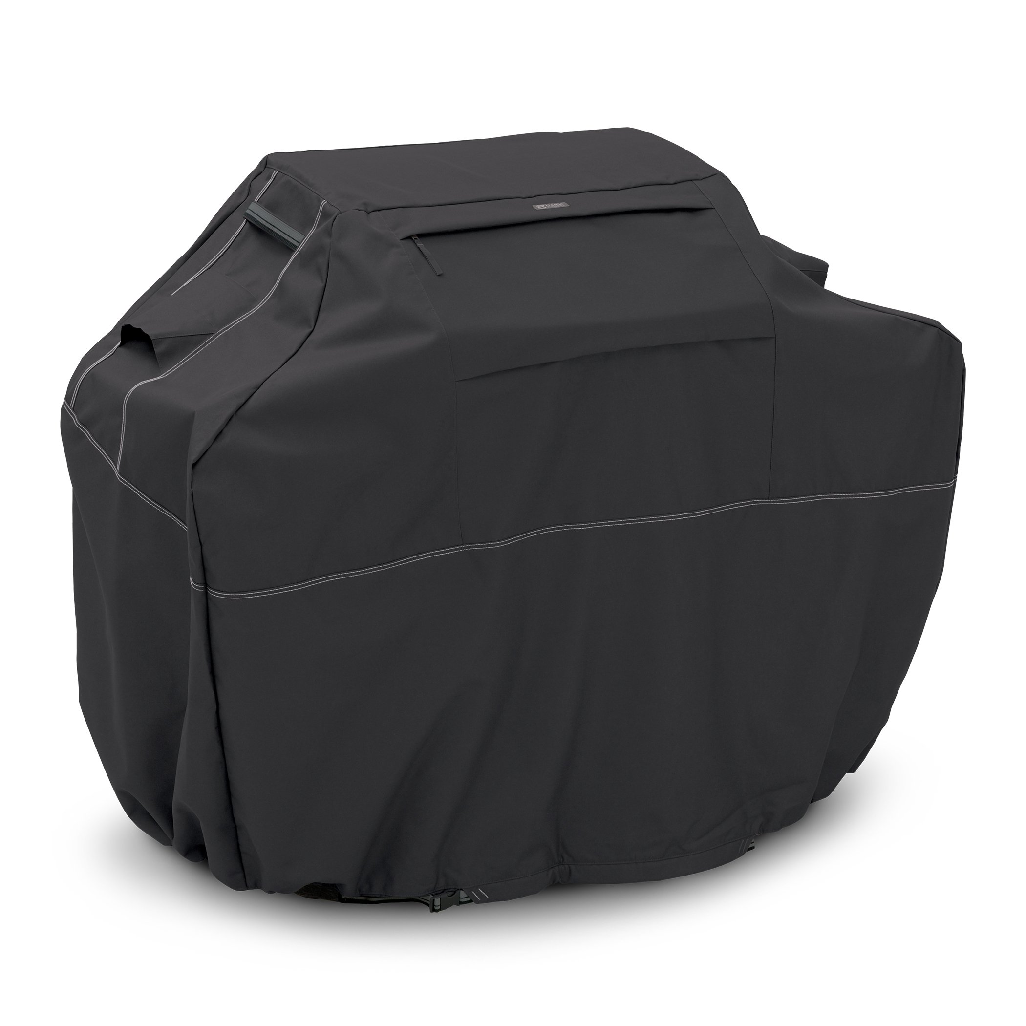 Classic Accessories 55-562-040401-00 Grill Cover - Heavy-Duty BBQ Cover with Sunbrella Fabric and Ten-Year Warranty, Large, 64-Inch