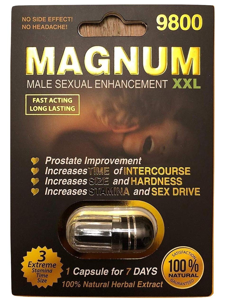 New Magnum XXL Black - Natural Energy Booster and Game Changer! Black  Capsule 9800 (5)