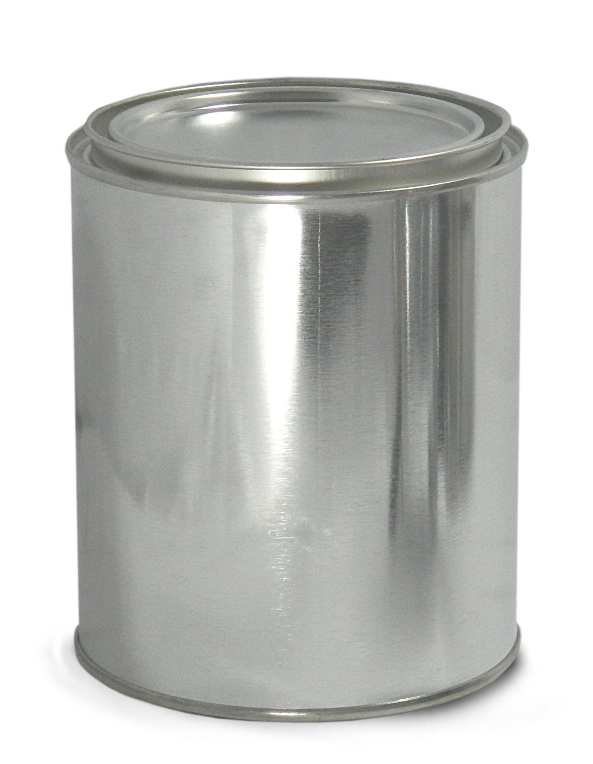Qorpak MET-03086 Metal Unlined Round Paint Can with Triple Tite Lid and Securing Clips, 1/4 pint Capacity, 208 mm Diameter x 201 mm Height, Case of 48