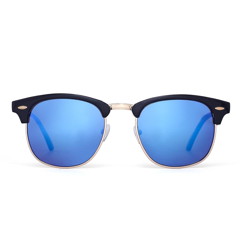Gafas de Sol Retro Semi Mitad Sin Montura Browline Anteojos Para ...