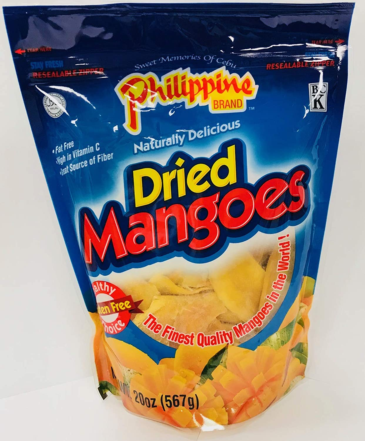 Philippine Brand Dried Mango 20 Ounce Pouches Pack Of 2 Amazon Com Grocery Gourmet Food