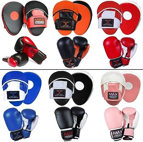 Lions Amateur Fitness Boxing Set Hook /& Jab Pads Focus Punch Bag Gloves Target Strike Mitts Impact Purple, 10oz