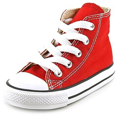 7c4d96d5f8fe41 Converse Infant Chuck Taylor All Star 7J232 Hi Red Infant Size 3