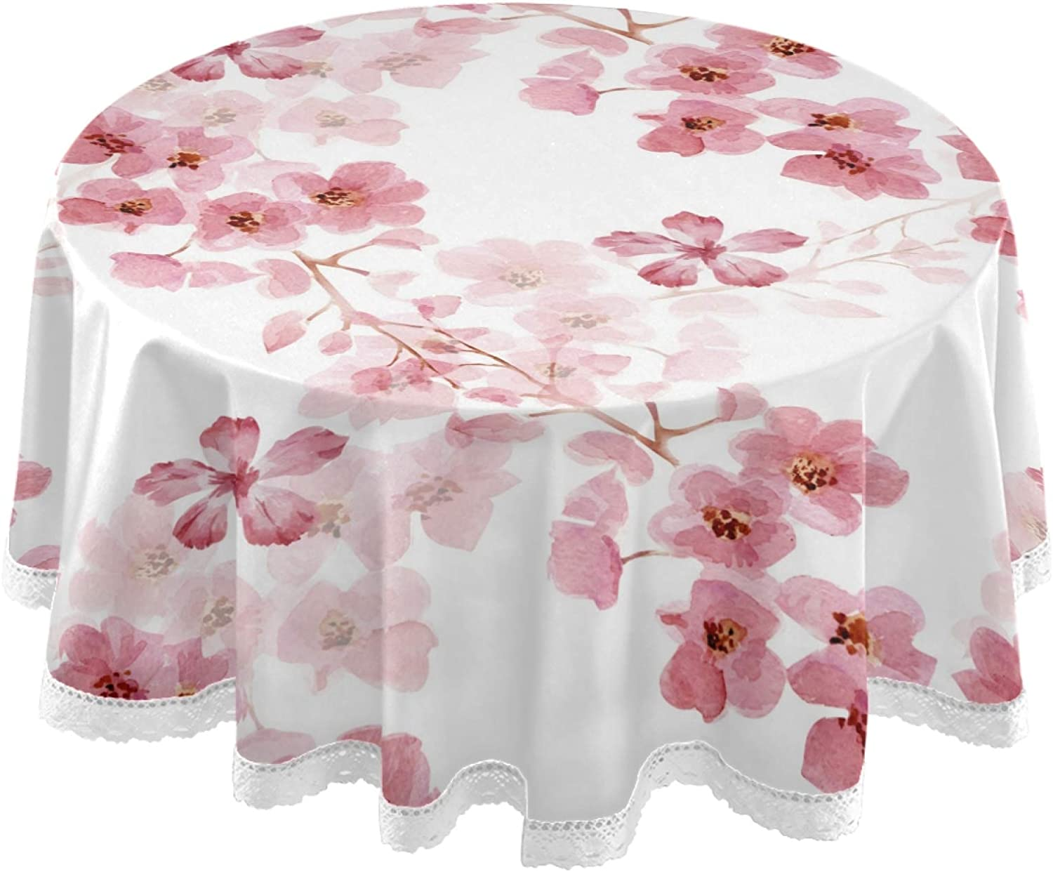 Zinnia Flowers  Cotton Sateen Circle Tablecloth by Spoonflower Bright Zinnia Chintz by shellypenko Bold Floral Chintz Round Tablecloth