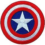Hook Mini Captain America Shield Tactical Original Colors Round Patch