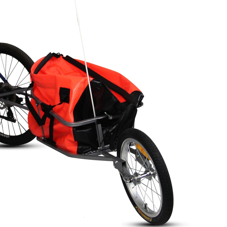 Peach Tree Pet Dog Bike Bicycle Trailer Cargo Stroller Jogger w/Orange Bag by Peachtree Audio (Image #4)