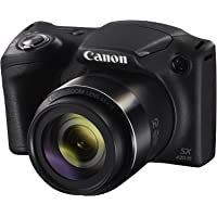 Canon Powershot SX430 IS Digital Camera with CMOS Sensor, DIGIC 4+, 20.5 Mp, 45X Optical Zoom, Black