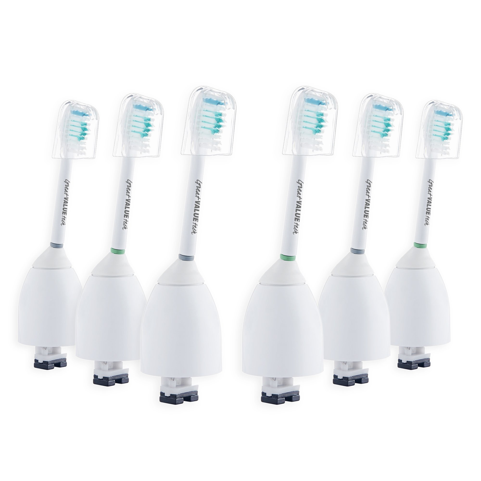 SoniPro 6x Replacement Toothbrush Heads for Philips Sonicare E-Series Standard fits Elite, Essence, Advance, CleanCare, Xtreme, HX7022 HX7023 HX7026