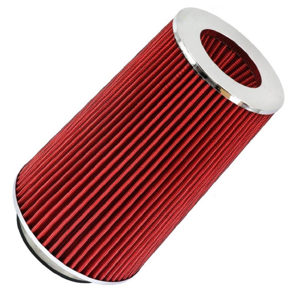 Sharplace Filtre /à Air DAdmission Air Froid Universel C/ône 76mm 89mm 101mm Rouge