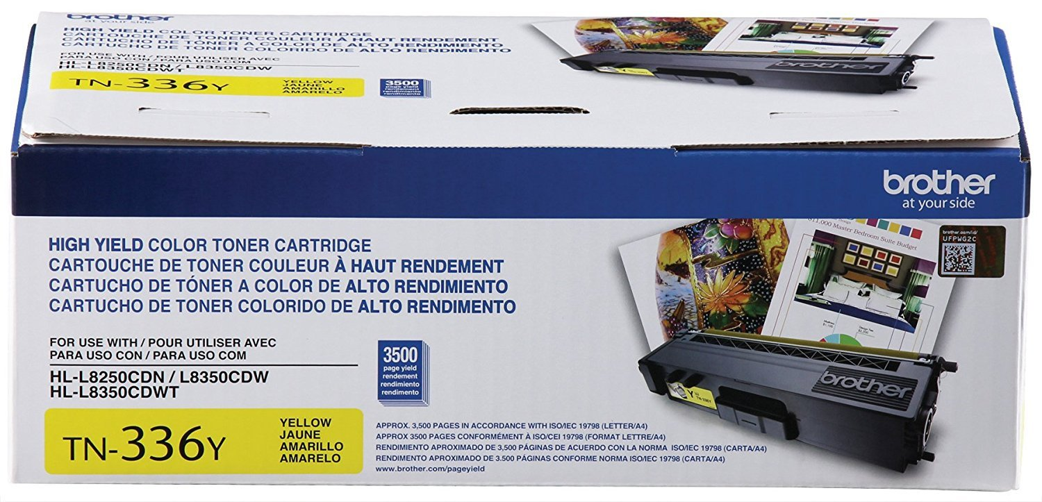 Brother TN336BK, TN336C, TN336M, TN336Y High Yield Black, Cyan, Magenta and Yellow  Toner Cartridge Set by Brother (Image #7)