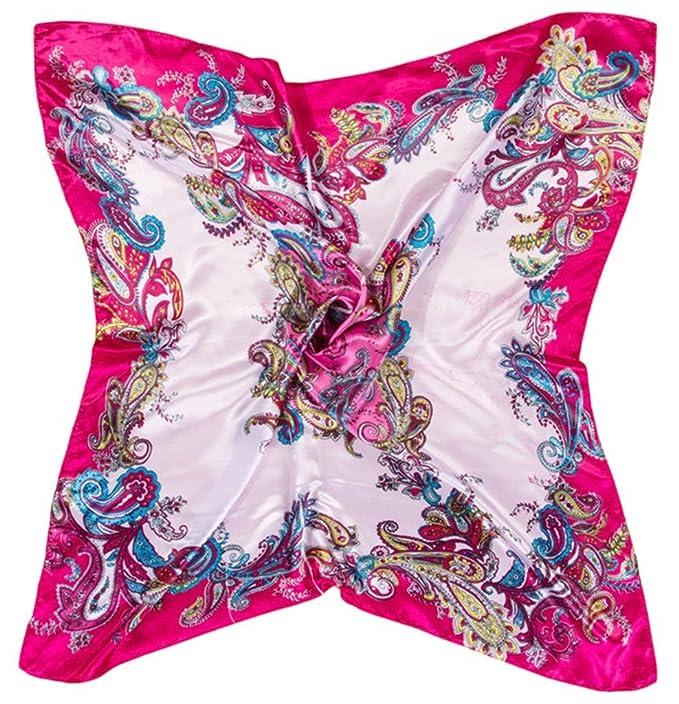 1920s Style Wraps Vintage Floral Pattern Silk Large Square Scarves 35.5*35.5 2PCS $9.90 AT vintagedancer.com