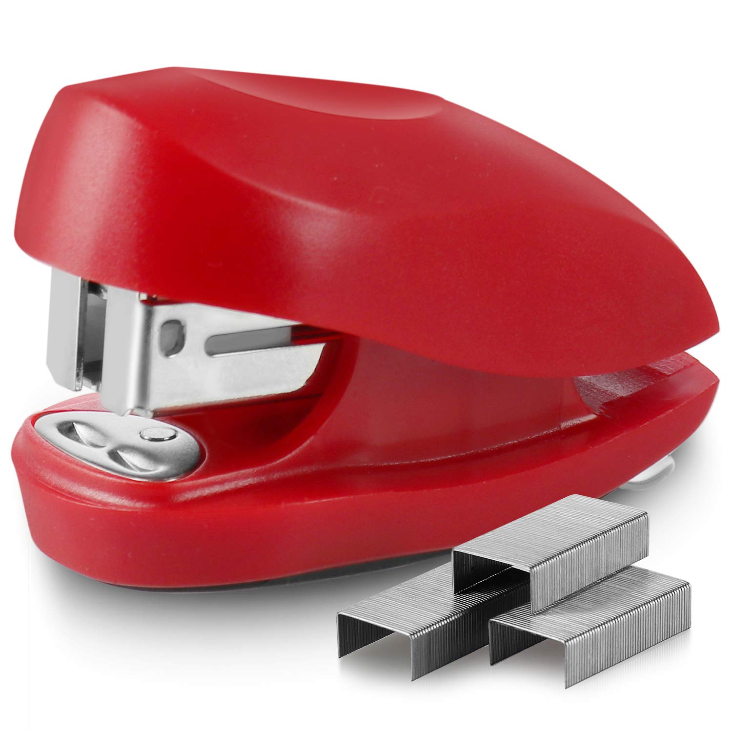 Swingline Red Mini Stapler With Staples, Tot, 12 Sheet Capacity, Small Stapler With Built In Staple Remover & 1000 Standard Staples, Staple Storage, Cute Compact Travel Size Stapler For Adults & Kids.