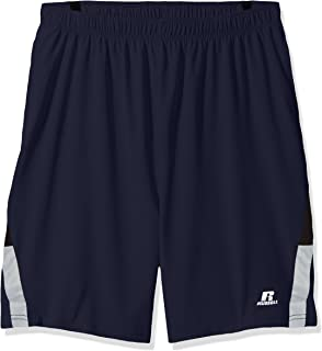 c7e6f5781b Russell Athletic Men's Big and Tall Pieced Woven Short with The Curved  Insert