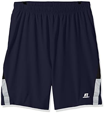 9aaca23cd25028 Russell Athletic Men s Tall Pieced Woven Short with The Curved Insert