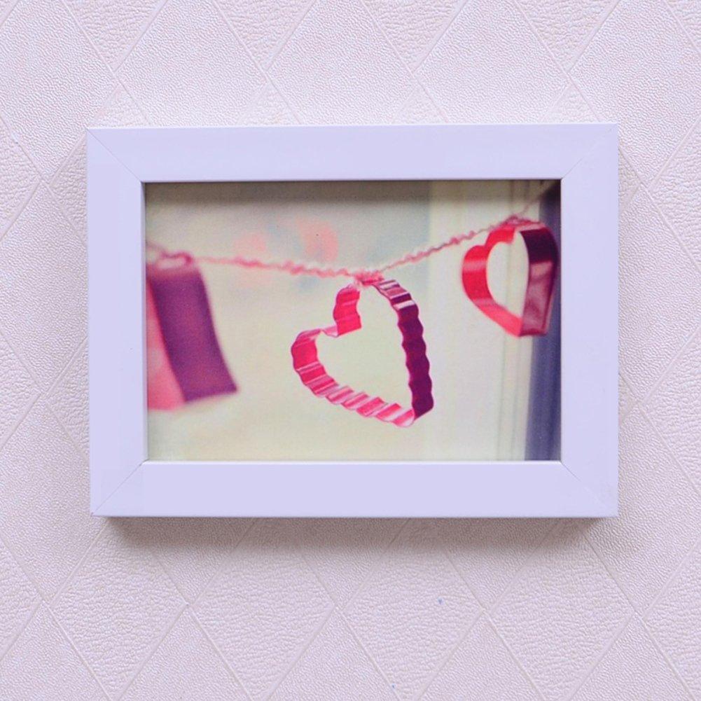 DHWJ Europeo sólido Madera portaretrato, Portaretrato Simple Pared Marco de Fotos de Pareja de los niños creativos-F 12.7x17.7cm(5x7inch): Amazon.es: Hogar