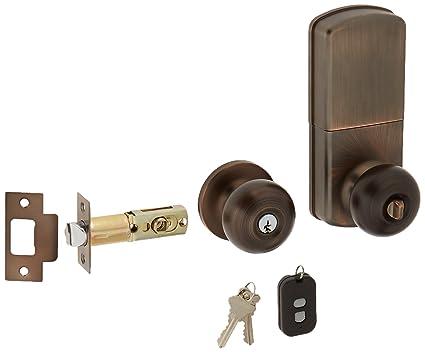 milocks wkk-02ob Digital Pomo con cerradura para puerta con entrada sin llave a través