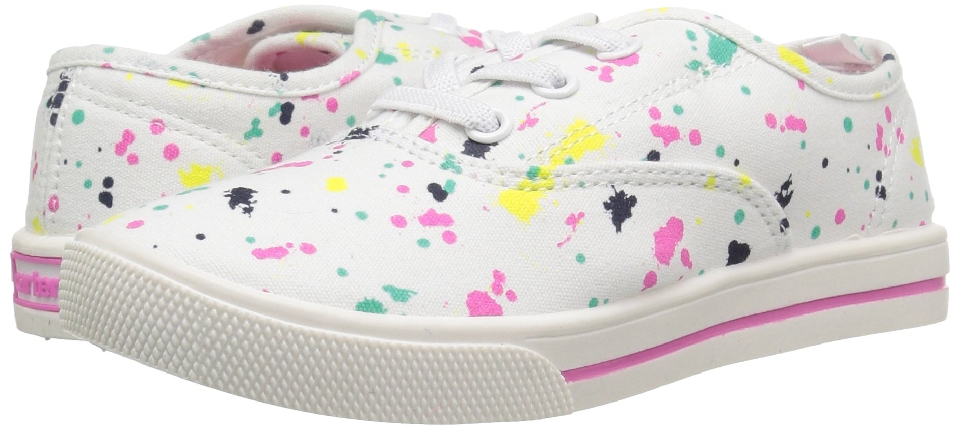 Carter's Piper Girl's Casual Sneaker, White/Print, 3 M US Little Kid by Carter's (Image #6)