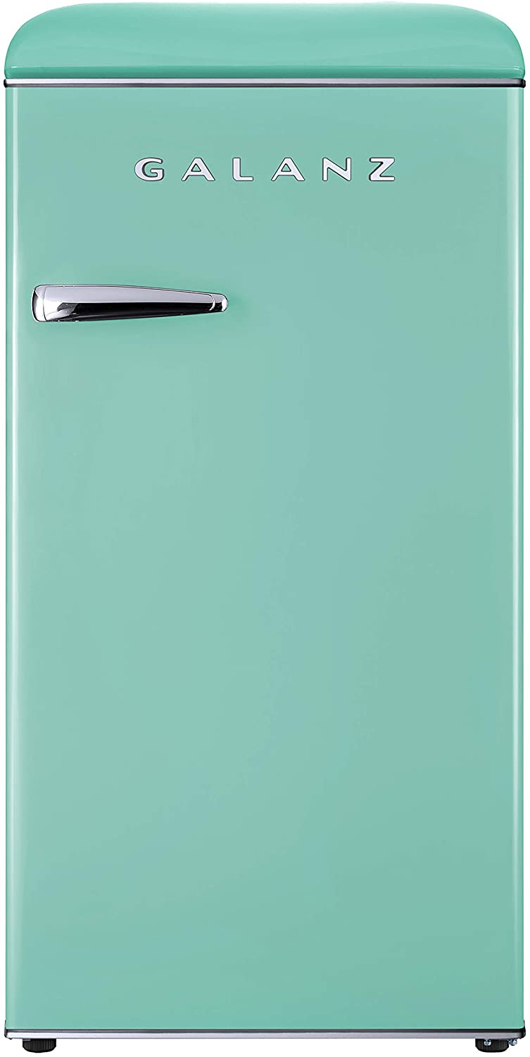 Galanz GLR33MGNR10 Retro Compact Refrigerator, Adjustable Mechanical Thermostat with Chiller
