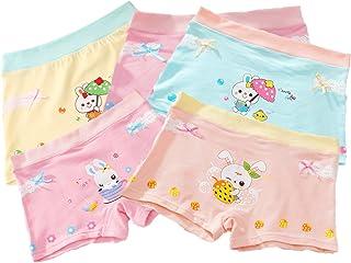 Little Girls Kids Baby Toddler 5Pcs Princess Rabbit Strawberry Boyshort Underwear Boxers Briefs Panties