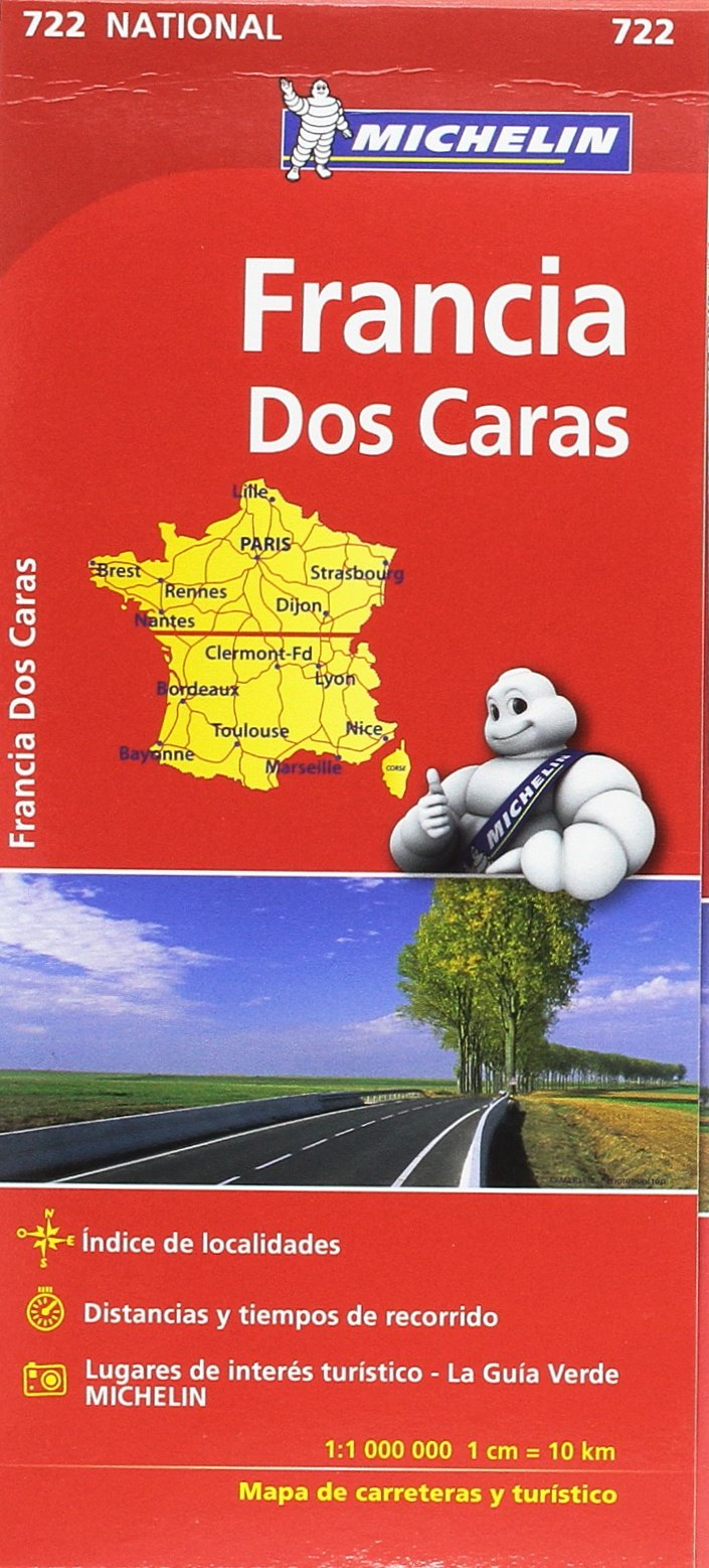 Mapa National Francia doble cara Mapas National Michelin: Amazon ...