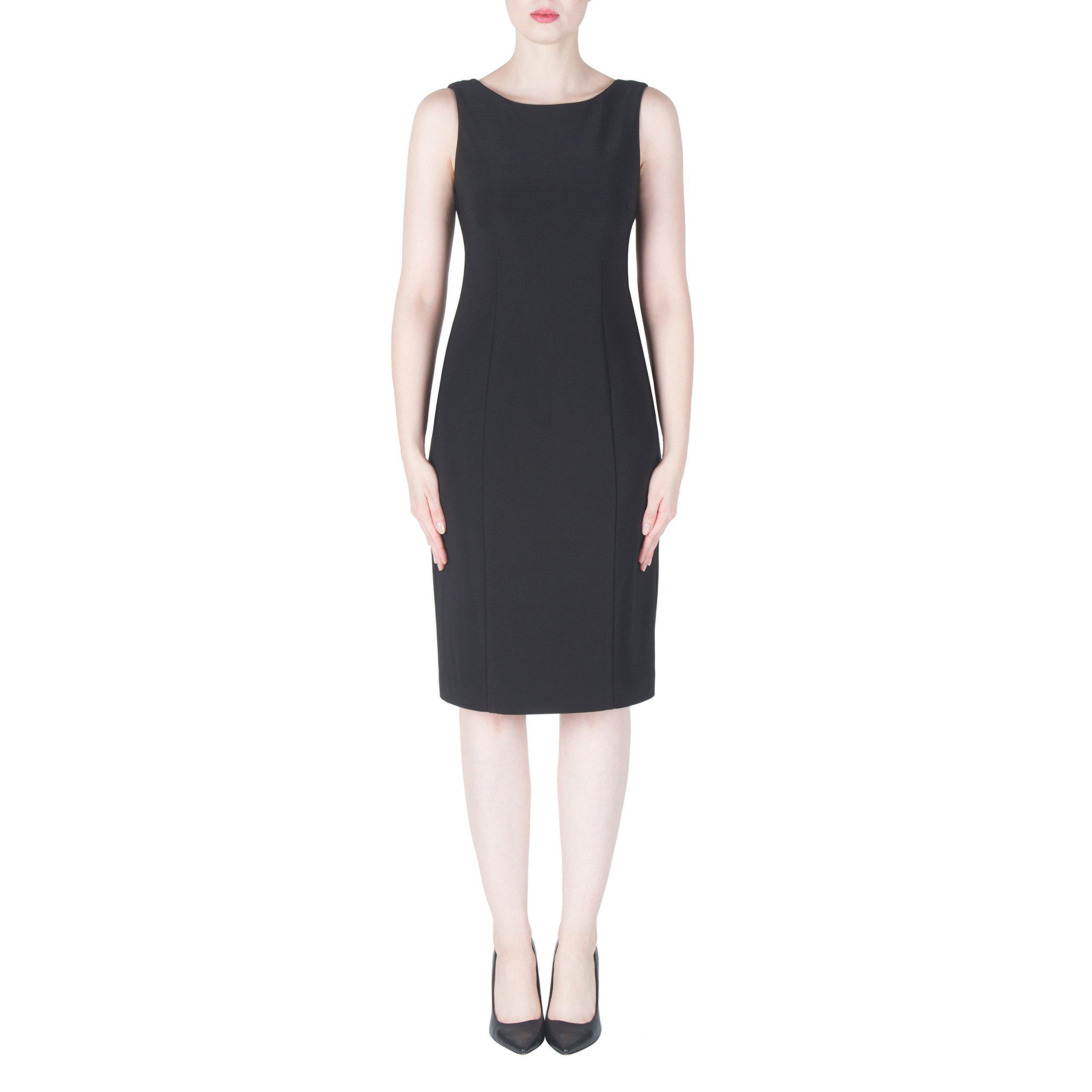 Joseph Ribkoff Black Open Back with Jewel Chain Accent Dress Style 171009 - Size 16 by Joseph Ribkoff