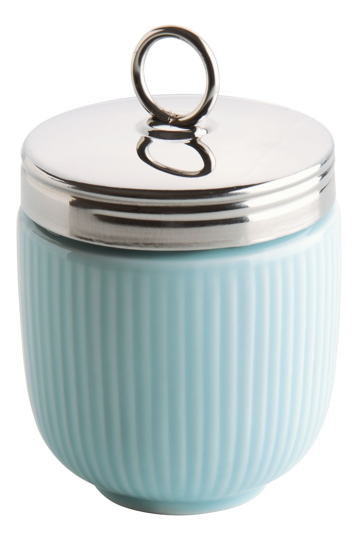 DRH Celadon Blue Egg Coddler For Easy Cook Meals and Ways To Cook Eggs In Porcelain Dish