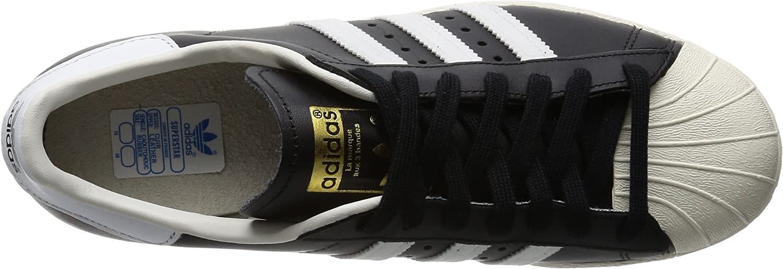 Adidas Herren Superstar 80s Gymnastikschuhe Schwarz Black 1 White Chalk 2