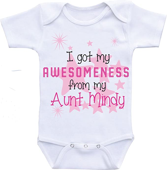 47fe2b949 Promini Funny Baby Onesie Auntie Baby Bodysuit Cute Infant One-Piece  Bodysuit Best Gift for