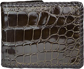 product image for Hand Braided Brown Alligator Wallet