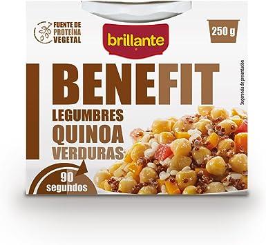 Brillante Benefit Legumbres Quinoa Verduras 250G - [Pack De 16] - Total 4 Kg