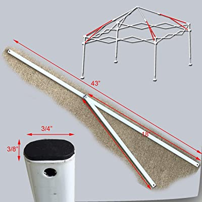 "Ozark Trail Instan First Up 10""X10"" Canopy Gazebo 2 Peak Truss Bars Metal Parts White: Garden & Outdoor"