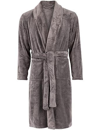 66a64ca9a23 MONOPRIX HOMME - Peignoir en polaire - Homme - Taille   44 - Couleur   GRIS  ANTHRACITE  Amazon.fr  Vêtements et accessoires