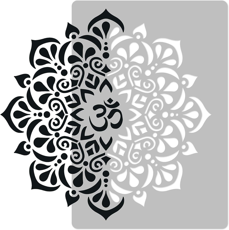 Item 1322225 Ohn Om Yoga Meditation DIY Plastic Stencil Acrylic Mylar Reusable