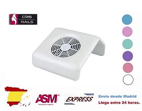Crisnails ® Aspiradores de Polvo de Uñas para Manicura y Pedicura Herramienta Profesional (PequeñoBlanco1)
