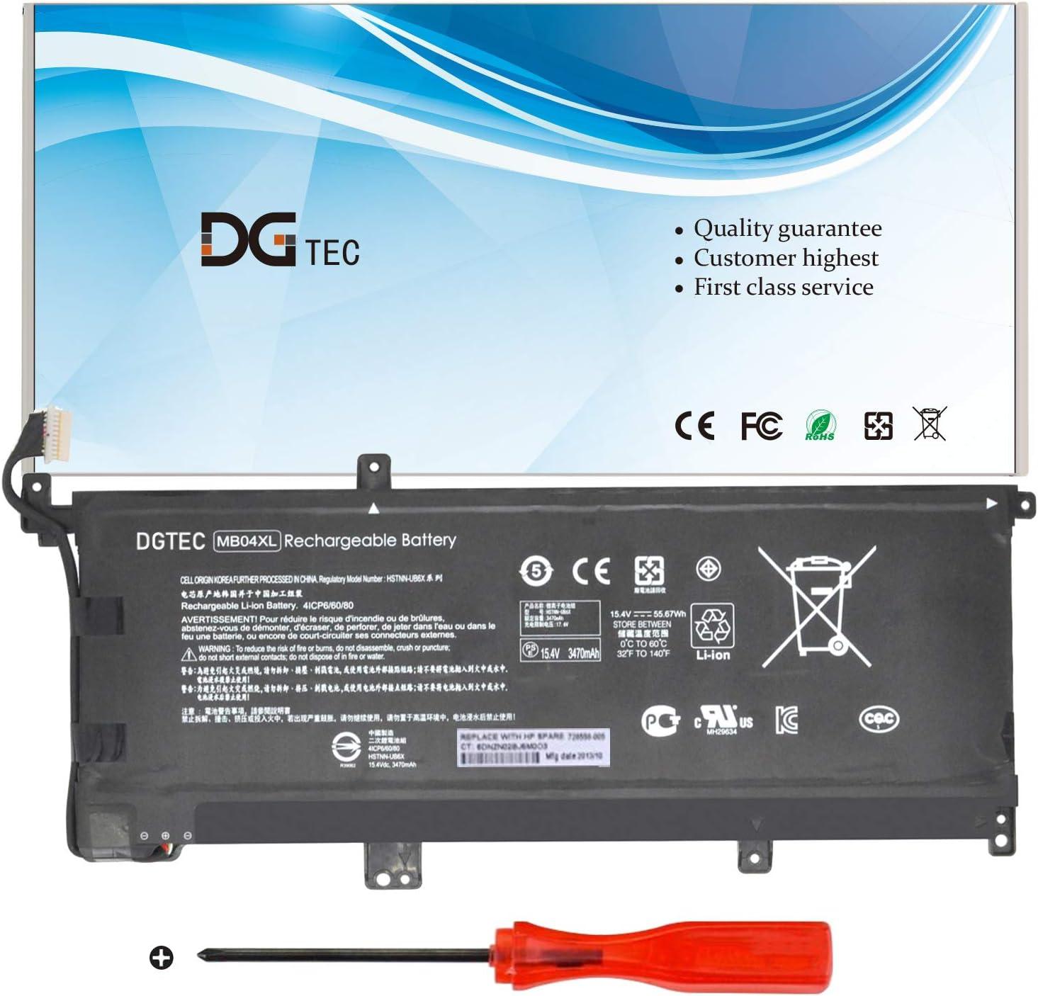 DGTEC New MB04XL Laptop Battery Replacement for HP Envy x360 M6-AQ105DX M6-AQ003DX M6-AQ005DX M6-AR004DX AQ103DX Convertible PC 15 15-AQ005NA HSTNN-UB6X 843538-541 844204-850(11.5V 55.67Wh)