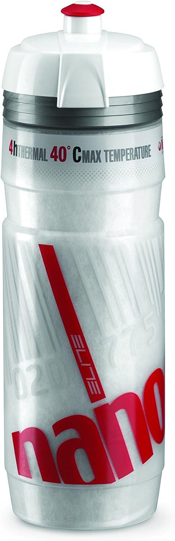 Elite Nanogelite - Bidón de Ciclismo, Blanco/Rojo, 500 ml: Amazon ...