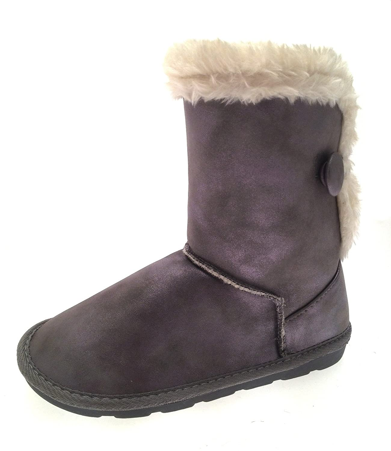 8b2ba3776bf8 Lora Dora Girls Faux Suede Snugg Ankle Boots  Amazon.co.uk  Shoes   Bags