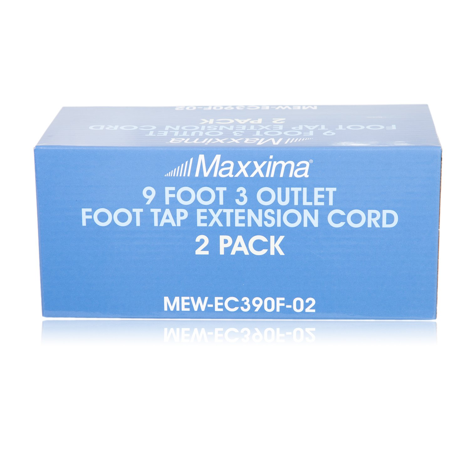Pack of 2 Maxxima 9 Foot 3 Outlet Foot Tap Extension Cord MEW-EC390F-02