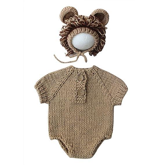Haokaini bebé fotografía Prop león Traje Traje recién Nacido ...