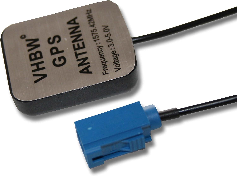 vhbw Antena GPS con Fakra, Base magnética 5m cablenavegador