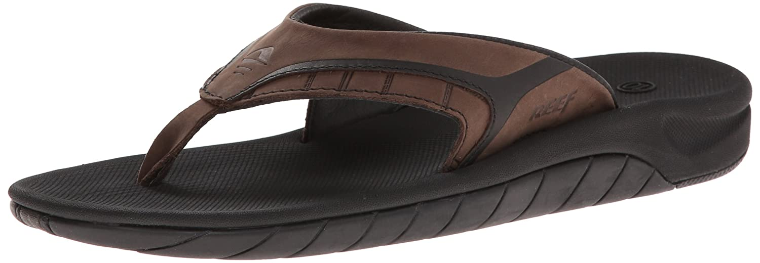 1e329c32c967 Amazon.com  Reef Men S Leather Slap II Thong Sandal  Shoes