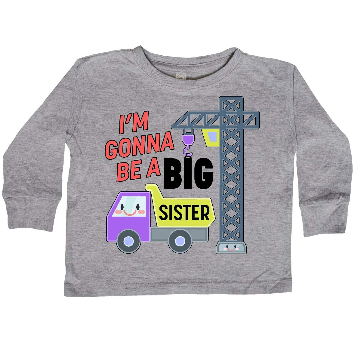 Truck and Crane Toddler Long Sleeve T-Shirt inktastic Im Gonna Be a Big Sister
