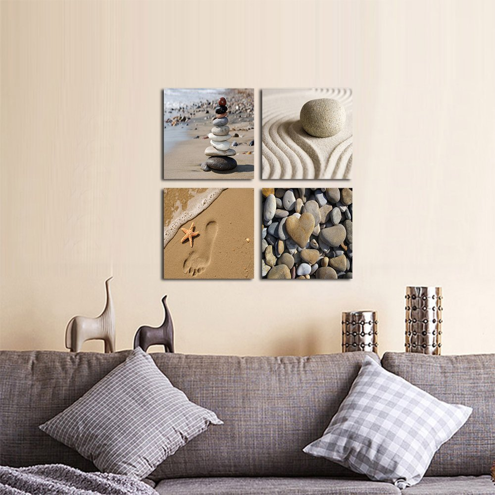 modern artwork for home modern artwork thumbnail artwork home amazoncom wieco art romantic beach theme 4 piece modern giclee artwork sea beach ocean canvas prints abstract seascape pictures paintings